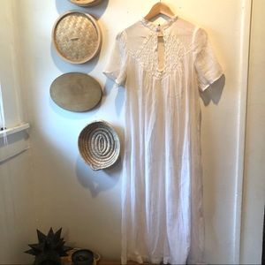 Vintage Christian Dior pleated & lace nightgown